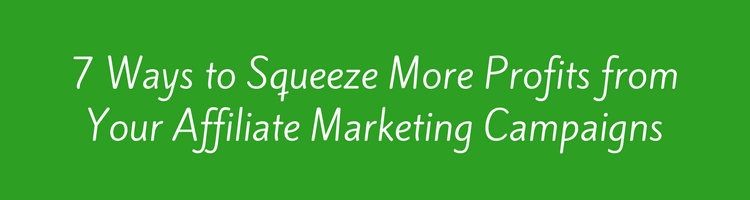 7 Ways to Squeeze More Profits from Your Affiliate Marketing Campaigns